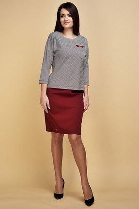 Комплект юбочный Danaida 1616 серый с бордо