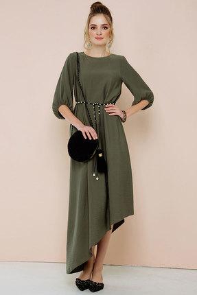 Платье Gizart 7132 темный хаки, Повседневные платья, 7132, темный хаки, уточняется, Лето  - купить со скидкой
