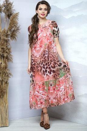 Купить Платье Olegran д-509 розовые тона, Повседневные платья, д-509, розовые тона, ПЭ – 100%, Лето