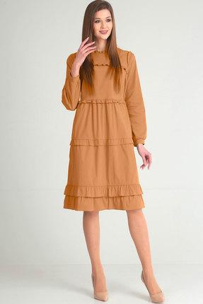 Купить Платье Elga 01-591 горчичный, Повседневные платья, 01-591, горчичный, 68 ХБ 29% Нейлон 3% Спандекс, Мультисезон