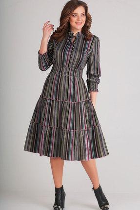 Купить Платье Асолия 2403.1 мультиколор, Повседневные платья, 2403.1, мультиколор, ПЭ - 95%, Спандекс - 5%, Мультисезон
