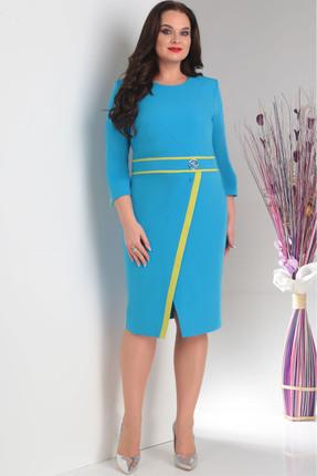 Купить Платье Milana 109 голубой, Повседневные платья, 109, голубой, Костюмно-плательная. Состав: ПЭ-74%, вискоза-21%, спандекс-5%., Мультисезон