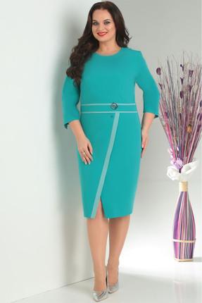 Купить Платье Milana 109 бирюзовый, Повседневные платья, 109, бирюзовый, Костюмно-плательная. Состав: ПЭ-74%, вискоза-21%, спандекс-5%., Мультисезон