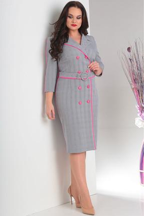 Купить Платье Milana 111 серый, Повседневные платья, 111, серый, Костюмно-плательная. Состав: ПЭ-68%, вискоза-30%, спандекс-2%., Мультисезон