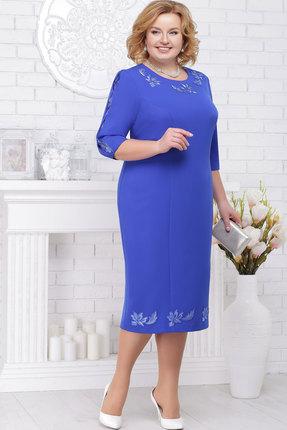 Купить Платье Ninele 7236 васильковый, Вечерние платья, 7236, васильковый, Полиэстер 95%, спандекс 5%, кружево - полиэстер 100%, подкладка - полиэфир 95%, Мультисезон