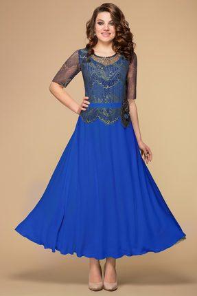 Вечернее кружевное трикотажное платье со стразами