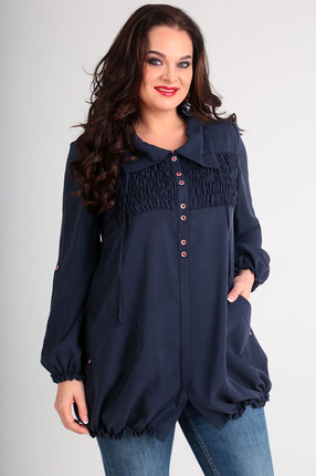 Купить Блузка Таир-Гранд 62321 синий, Блузки, 62321, синий, Состав: вискоза 100%, Мультисезон