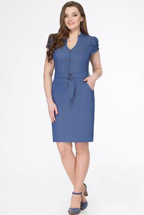Платье KetisBel 1402 синий, Повседневные платья, 1402, синий, 68% вискоза, 30% ПЭ, 2% спандекс, Лето  - купить со скидкой
