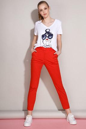 Комплект брючный Anna Majewska 929/968 белый с красным