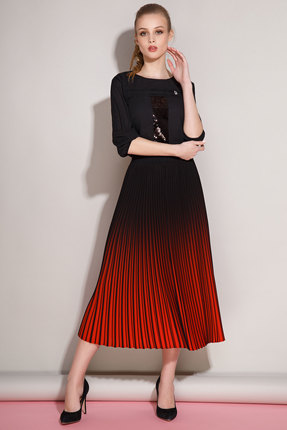 Купить Комплект юбочный Anna Majewska 981-1159R черный с красным, Юбочные, 981-1159R, черный с красным, ПЭ-100%, Мультисезон