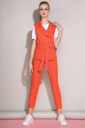 Комплект брючный Anna Majewska 1189B-2 красно-морковный