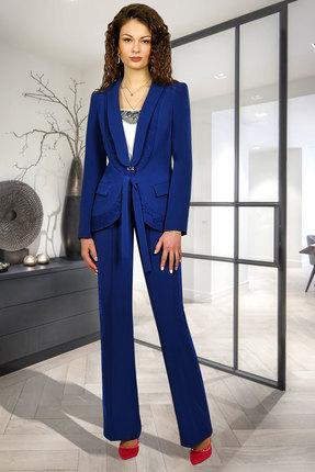 женский брючный костюм миа мода, синий