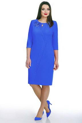 Купить Платье Мишель стиль 748 василек, Повседневные платья, 748, василек, полиэстер 67%, вискоза 30%, спандекс 3%, Мультисезон