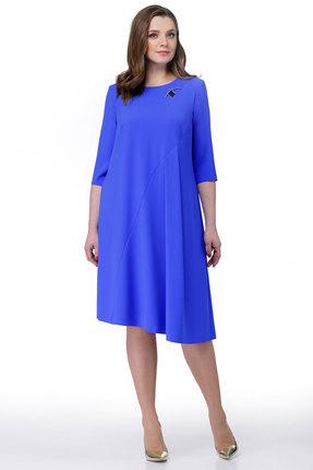 Купить Платье Мишель стиль 760 василек, Повседневные платья, 760, василек, полиэстер 67%, вискоза 30%, спандекс 3%, Мультисезон