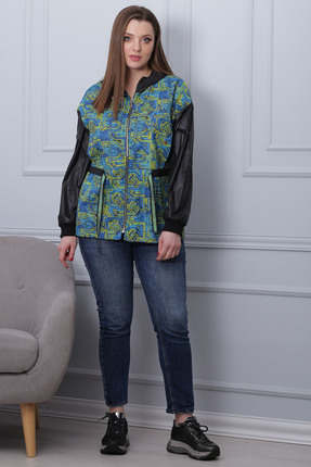 Куртка Michel Chic 349 бирюзовые тона