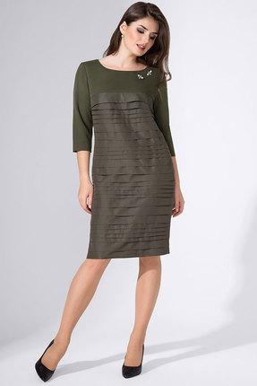 Купить Платье Avanti Erika 769 олива, Повседневные платья, 769, олива, вискоза 72%, ПЭ 25%, спандекс 3%, Мультисезон