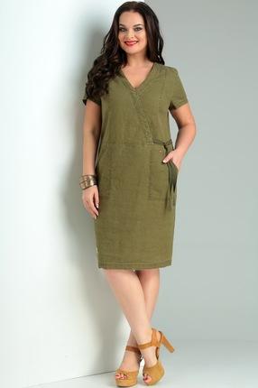 Купить Платье Jurimex 1963 хаки, Повседневные платья, 1963, хаки, лен – 74%, хлопок – 26%, Лето