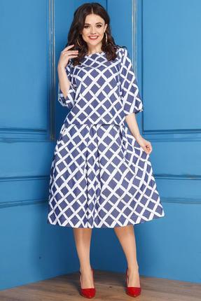Комплект юбочный Anastasia 266 сине белый