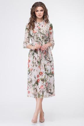 Купить Платье Магия Моды 1555 светлые тона, Повседневные платья, 1555, светлые тона, ПЭ 100%, Мультисезон