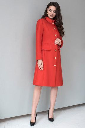 Пальто ЮРС 18-957-2 красные тона
