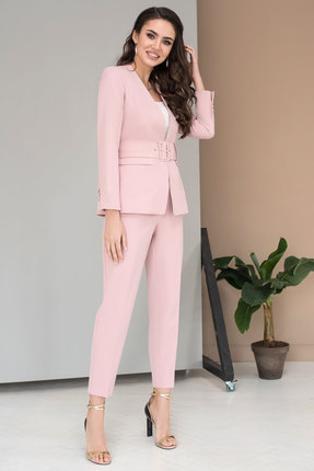 женский брючный костюм юрс, розовый
