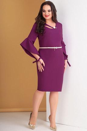 Платье Ксения Стиль 1632 фиолетовые тона, Вечерние платья, 1632, фиолетовые тона, п/э 72%, вискоза 24%, спандекс 4%, Мультисезон  - купить со скидкой