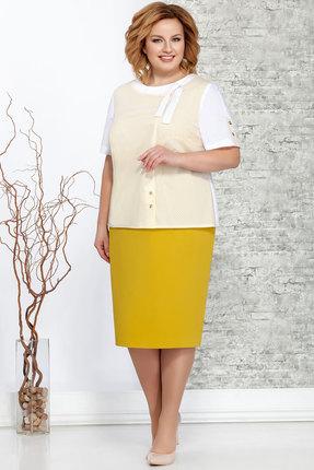 Комплект юбочный Ivelta plus 2468 желтый с молочным