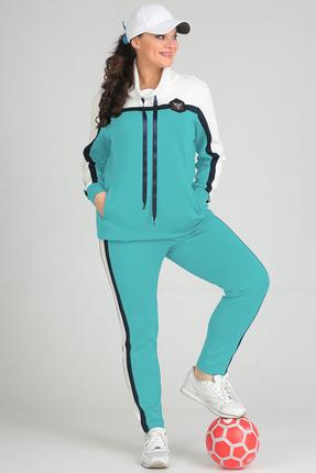 Купить Спортивный костюм Anastasia Mak 579 светло бирюзовый, Спортивные костюмы, 579, светло бирюзовый, Состав: 71% ПЭ, 23% Вискоза, 6% Спандекс., Мультисезон