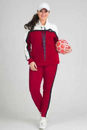 Купить Спортивный костюм Anastasia Mak 579 красный, Спортивные костюмы, 579, красный, Состав: 71% ПЭ, 23% Вискоза, 6% Спандекс., Мультисезон