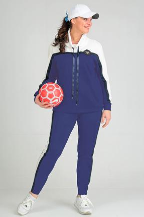 Купить Спортивный костюм Anastasia Mak 579 василек, Спортивные костюмы, 579, василек, Состав: 71% ПЭ, 23% Вискоза, 6% Спандекс., Мультисезон
