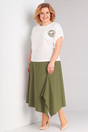 Комплект юбочный Диамант 1409 хаки