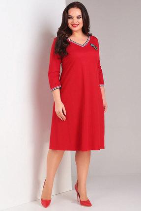 Купить Платье Милора-Стиль 698 красный, Повседневные платья, 698, красный, Полиэстер 80%; вискоза 18%; спандекс 2%, Мультисезон