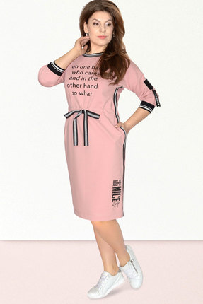 Спортивное платье Needle Ревертекс 395-2 пудра