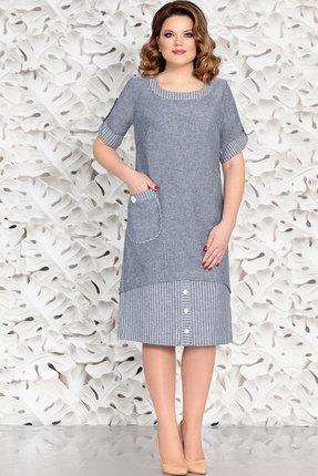 Купить Платье Mira Fashion 4587 синий, Повседневные платья, 4587, синий, Вискоза - 55% Лен - 23% Хлопок - 22%, Мультисезон