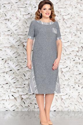 Купить Платье Mira Fashion 4595-2 серый, Повседневные платья, 4595-2, серый, Вискоза - 55% Лен - 23% Хлопок - 22%, Мультисезон