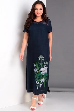 Купить Платье Jurimex 1974 синий, Повседневные платья, 1974, синий, лен 100%, Лето