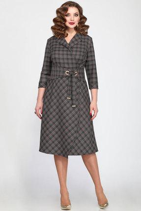 Купить Платье Matini 31245 серый с красным, Повседневные платья, 31245, серый с красным, 64% пэ, 31% вискоза, 5% спандекс, Мультисезон