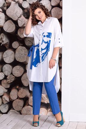Комплект брючный Мублиз 324 сине-белый
