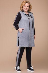 Спортивный костюм Svetlana Style 1212 серый с черным