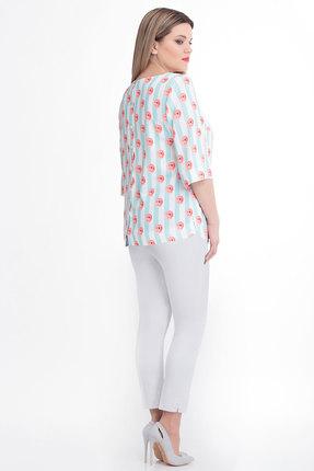 Блузка Дали 3152 голубой с розовым