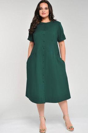 Купить Платье Elga 01-599 зелёный, Повседневные платья, 01-599, зелёный, 68% ХБ 29% Нейлон 3% Спандекс, Мультисезон