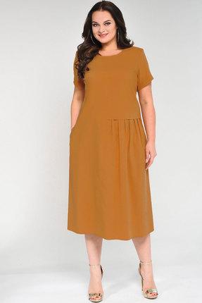 Купить Платье Elga 01-601 горчичный, Повседневные платья, 01-601, горчичный, 68% ХБ 29% Нейлон 3% Спандекс, Мультисезон