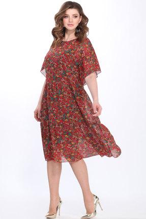 Купить Платье Matini 11300 красные тона, Повседневные платья, 11300, красные тона, Верх - 100% пэ, Платье нижнее - 95% пэ, 5% эластан, Лето