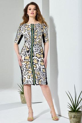 Купить Платье Anna Majewska 191 леопард, Повседневные платья, 191, леопард, Полиэстер-59%, Вискоза-39%, Спандекс-2%, Лето