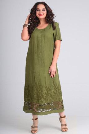 Платье Andrea Style 00147 зеленый