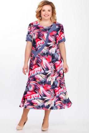 Купить Платье Медея и К 1979 серый с розовым, Повседневные платья, 1979, серый с розовым, 23, 4% вискоза, 70, 7% полиэстер, 5, 9% спандекс, Лето