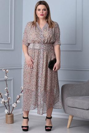 Платье Viola Style 0843 розовые тона