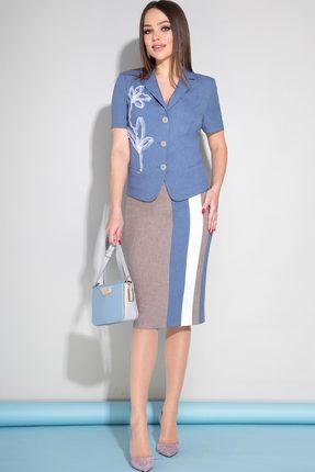 Комплект юбочный JeRusi 1954 синий с серым