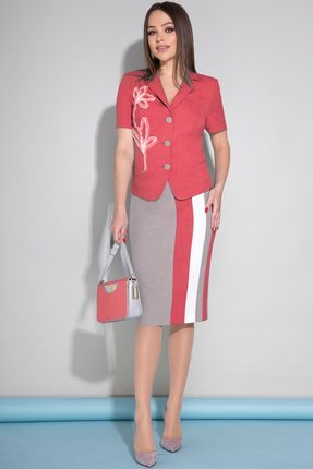 Комплект юбочный JeRusi 1954 красный с серым