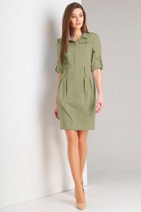 женское повседневные платье милора-стиль, хаки